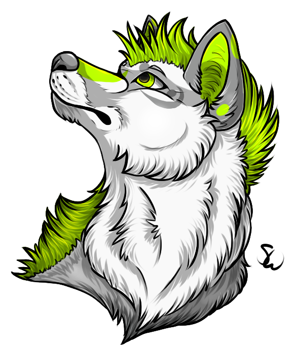 Canine Headshot Tag by TheStormUnleashed