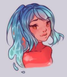 Water Girl by shushia