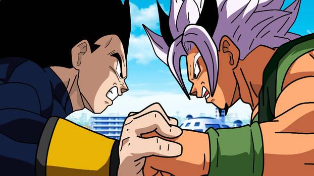 Xicor vs Rigor! Battle between Two Super Sayain 5!
