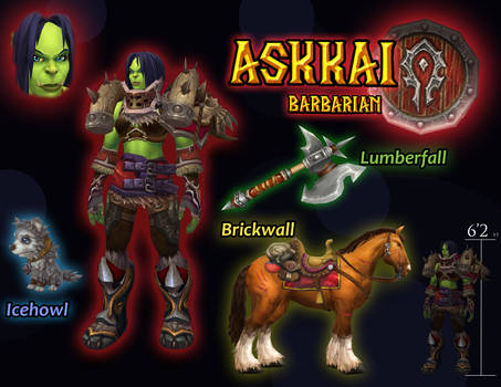 Modelviewer PS: Askkai, Orc Barbarian