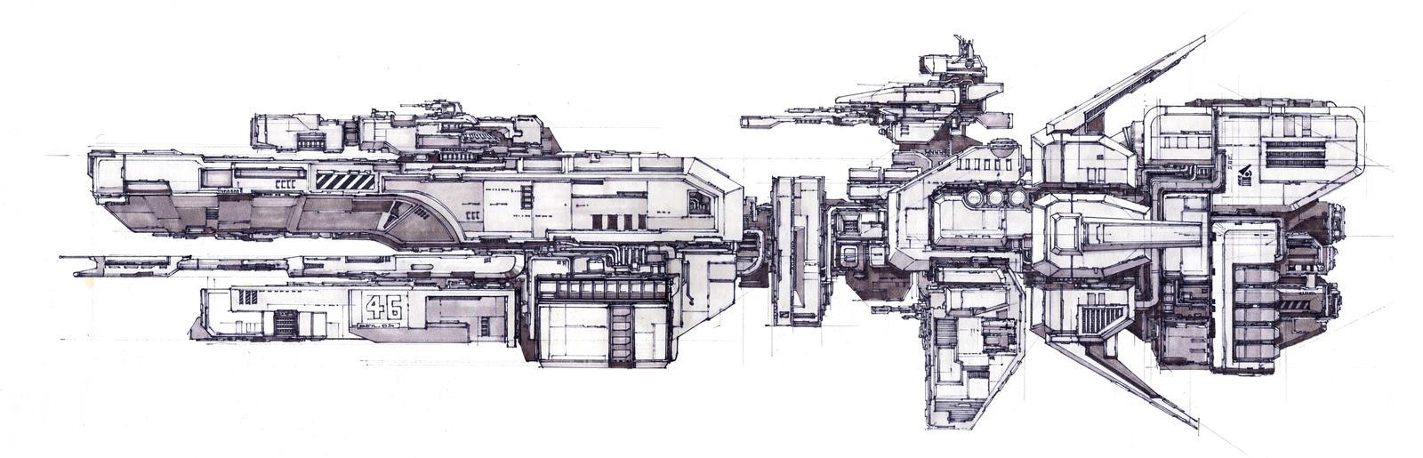Sparrow Class Spaceship by SpireKat