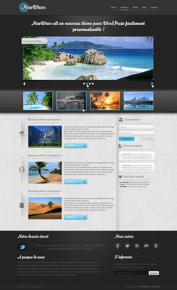 NewWave - WordPress Theme by JeremDsgn