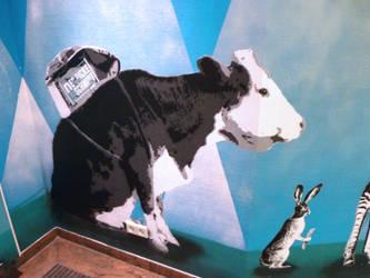 vegan shopping cow by Burgi687