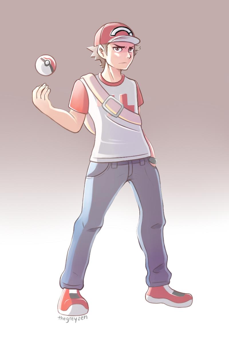 pokemon trainer red by thegreyzen on deviantart