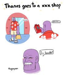 Thanos goes to a XXX shop by thegreyzen