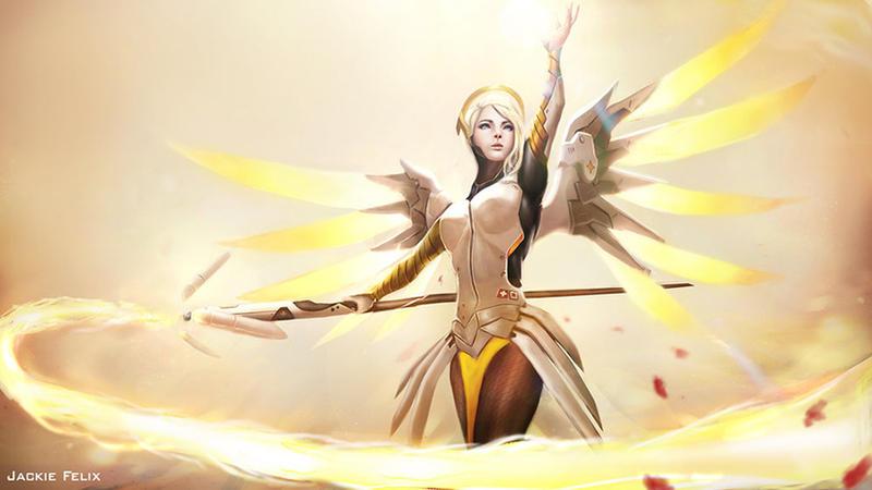 Mercy Overwatch by jackiefelixwei