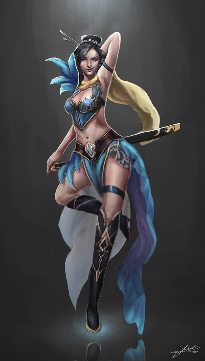 Lucia the sands blade by Jackiefelixart