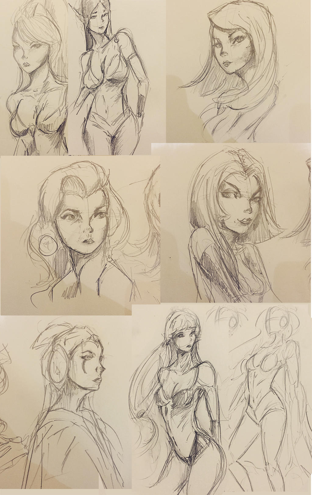 Sketch collection 1 by Jackiefelixart