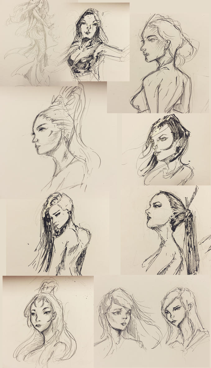 Sketch collection 2 by Jackiefelixart