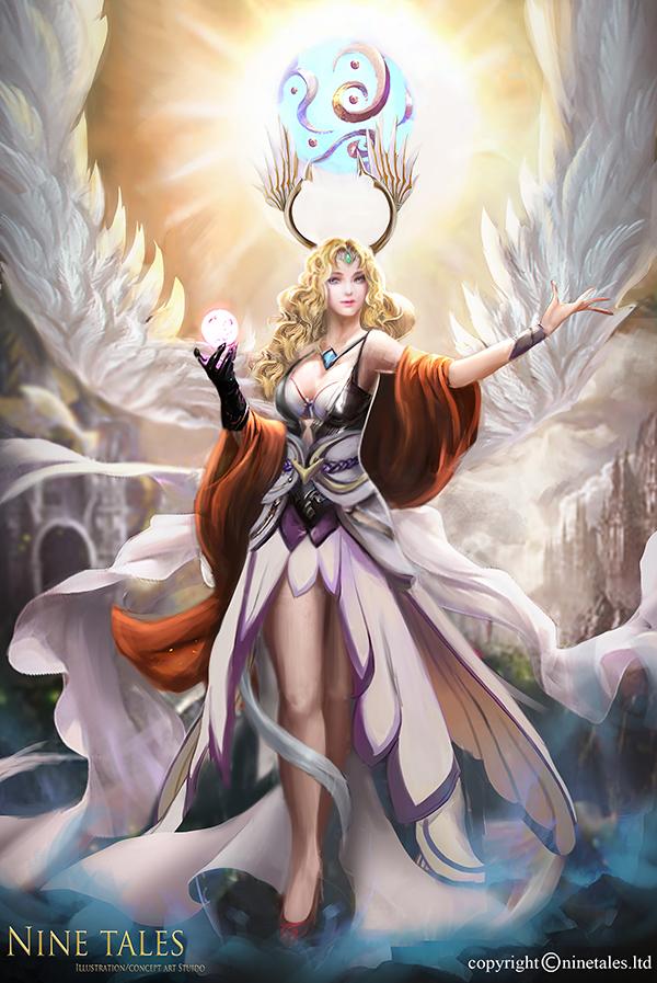 Angel of prayer by jackiefelixwei