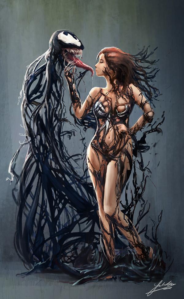 Venom (Commission) by Jackiefelixart