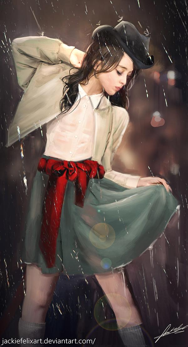 Rain drops by Jackiefelixart