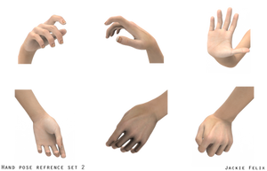 Hand Pose reference pack 2 by Jackiefelixart