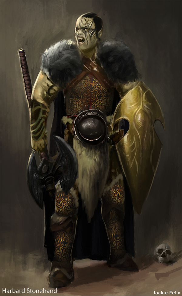 Harbard Stonehand (Commission) by Jackiefelixart
