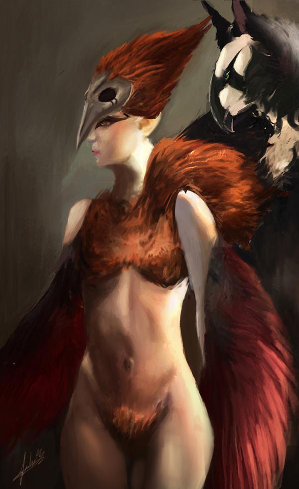 Ozryel Harpey (Commission) by Jackiefelixart