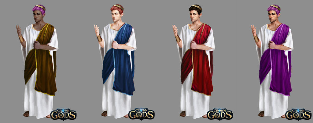 Male Roman Senator (variations) by Jackiefelixart
