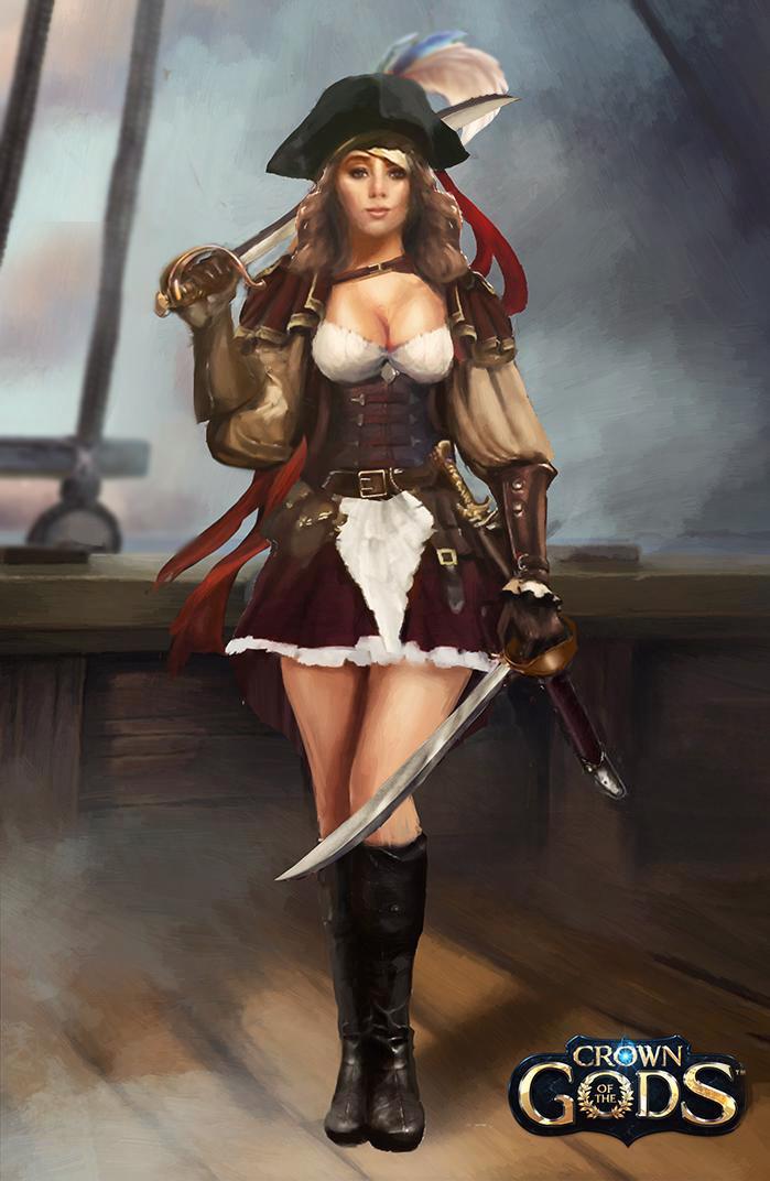Female pirate avatar by Jackiefelixart