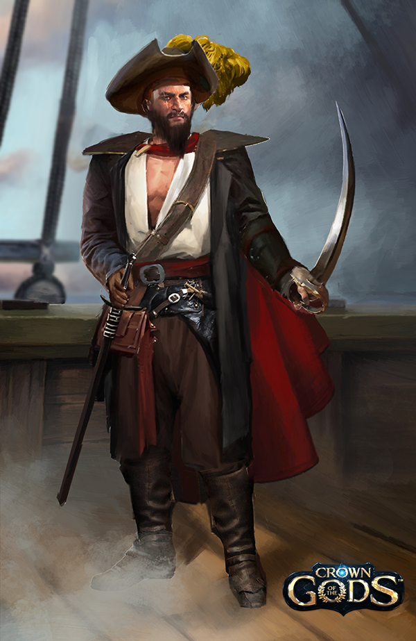 Male pirate avatar by Jackiefelixart