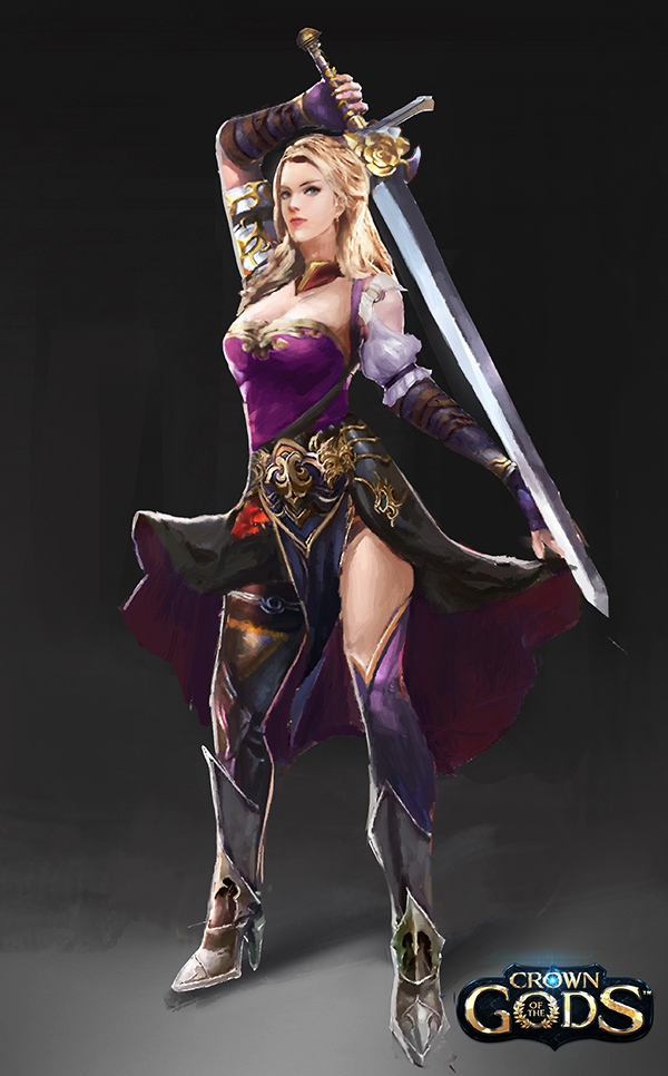 Female swordsman avatar by Jackiefelixart