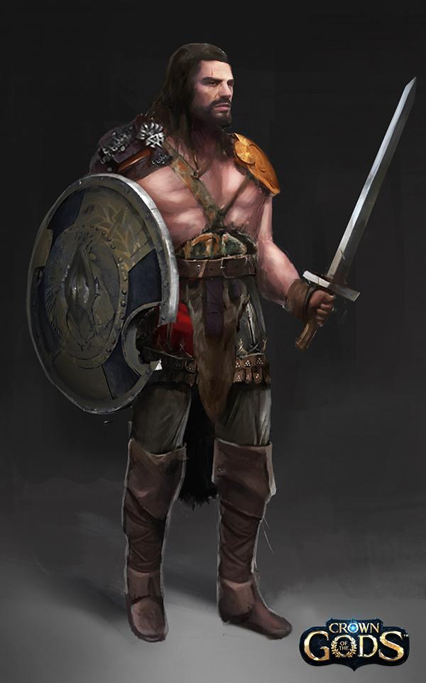 Barbarian warrior by Jackiefelixart