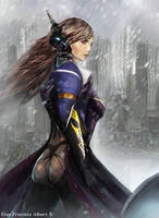 Mirai Gun Princess (commission) by Jackiefelixart
