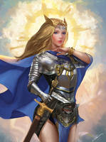 Maiden of Light by Jackiefelixart