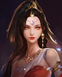 Golden Eyes by Jackiefelixart