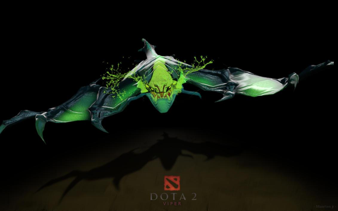 dota 2 viper poster by mwingine on deviantart