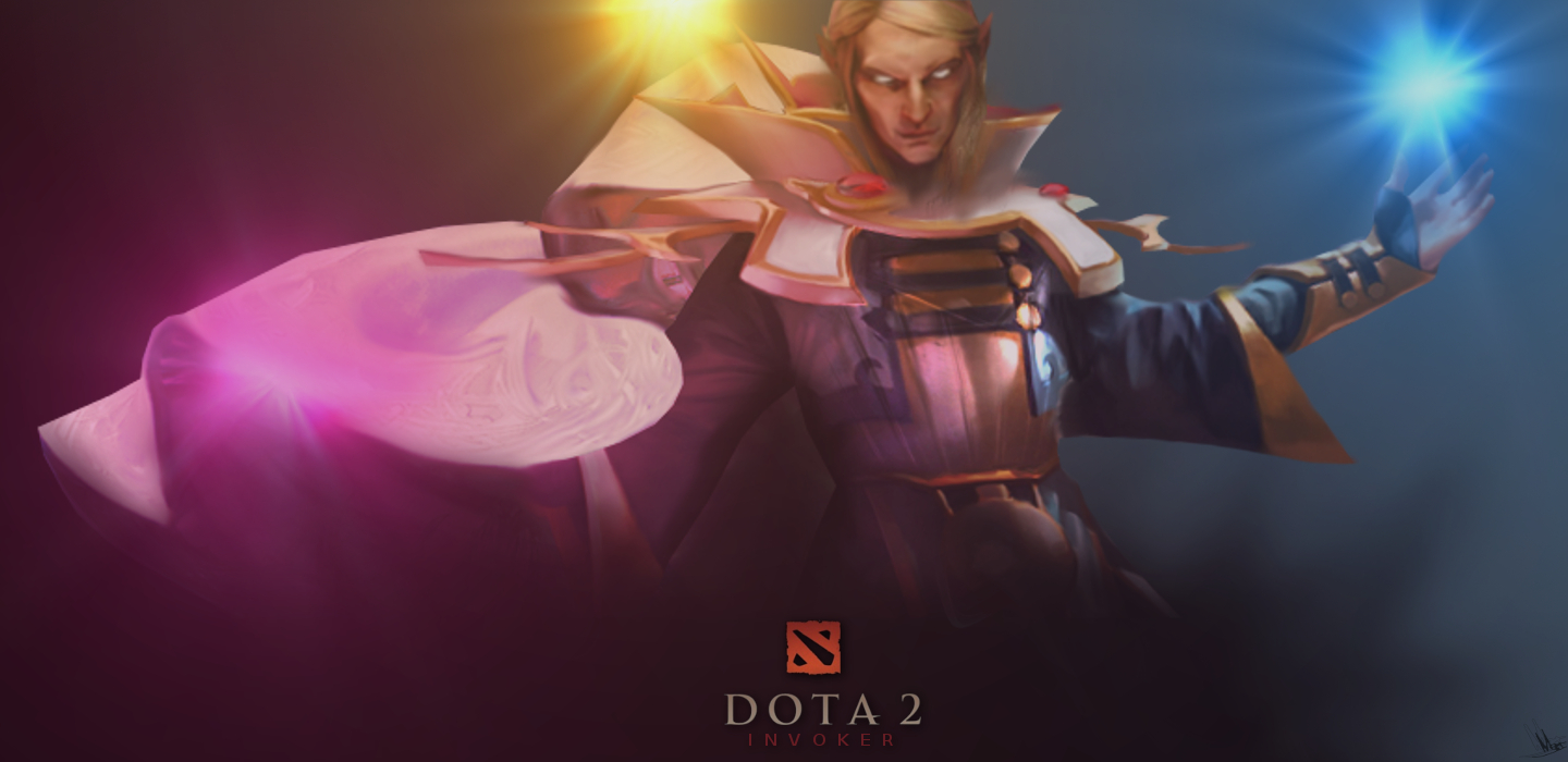 DOTA 2 - Invoker poster sketch by Mwingine
