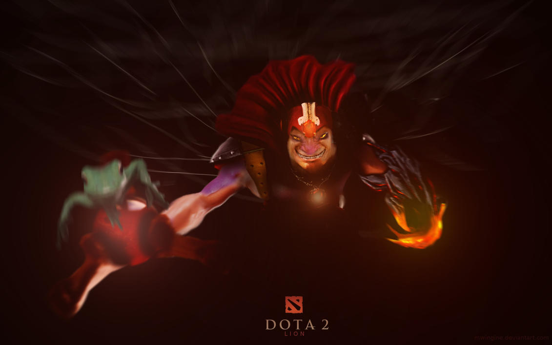 dota 2 lion poster with frog by mwingine on deviantart
