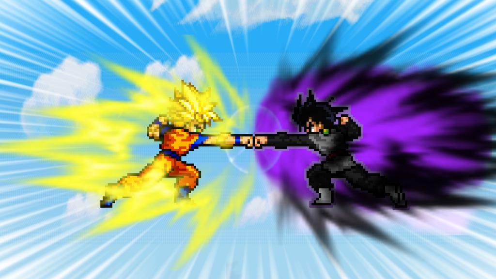 SSJ2 Goku Vs Black Goku By ChaoticPrince7 On DeviantArt