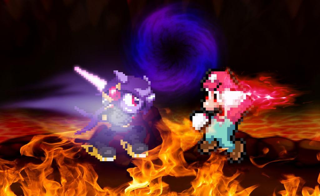 Black Lilac Vs Devil Mario By Chaoticprince7 On Deviantart