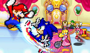 REQ- Sonic and Amy vs Mario and Princess Peach