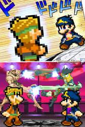 Jotaro Mario vs Dio Luigi