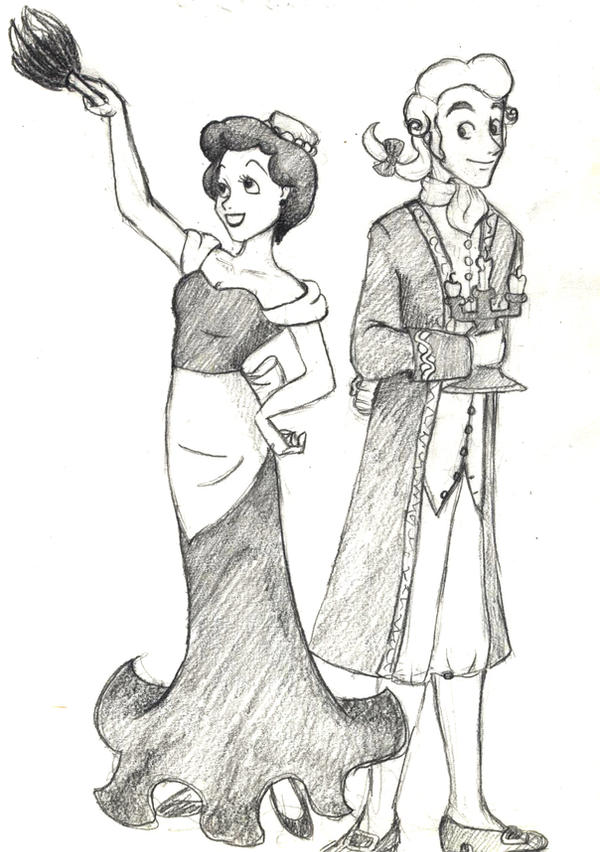 Lumiere And Babette By Frondy
