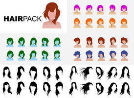 HAIR PACK TEMPLATES CHEAP by realfans