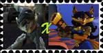 Sly Cooper X Carmelita Fox Stamp by Lombaxlover134