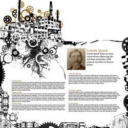 Steampunk Website Layout by Dezmodus