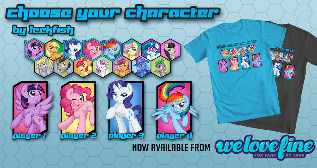Choose Your Pony- Now available from WeLoveFine! by LeekFish