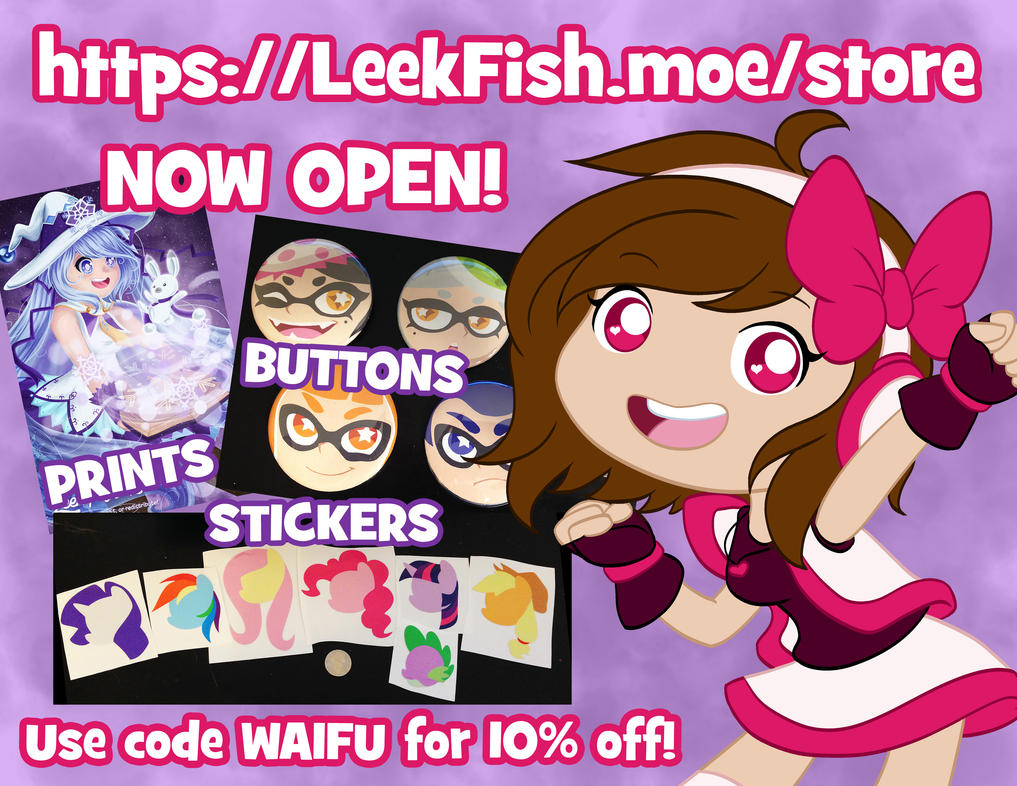 SHOP NOW OPEN by LeekFish