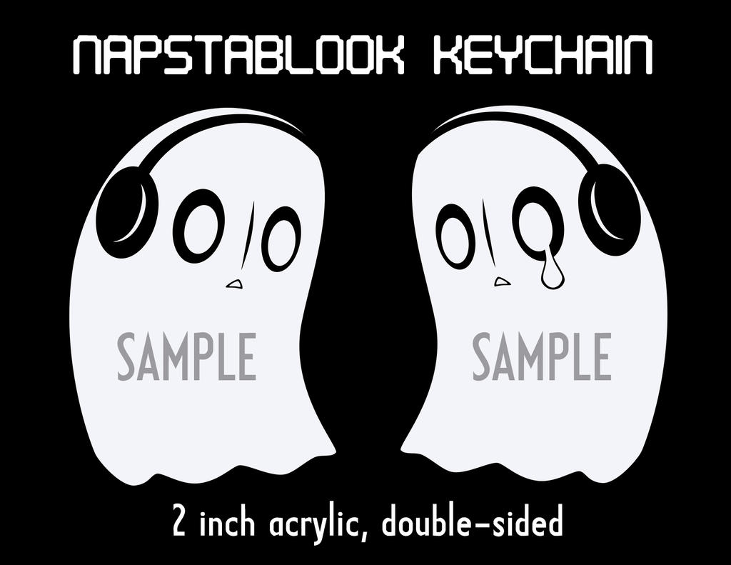 Napstablook keychains now in the shop by LeekFish