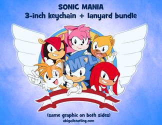 Sonic Mania Keychain by AbbyStarling
