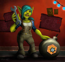 Goblin Engineer by Nefarei
