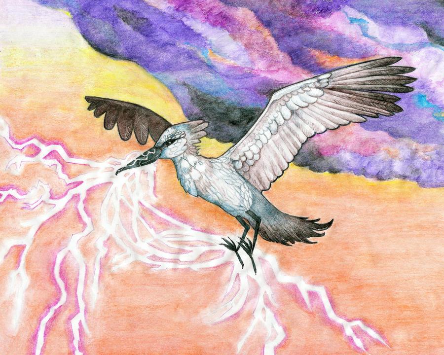 Impundulu Lightning Bird by artbybluedaisy on DeviantArt