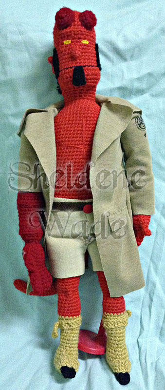 Hellboy crocheted by Sheeeva