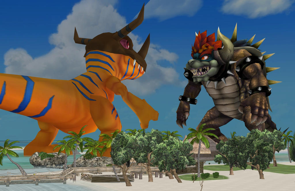 Giant Greymon vs Giant Giga Bowser by zoid162010 on DeviantArt