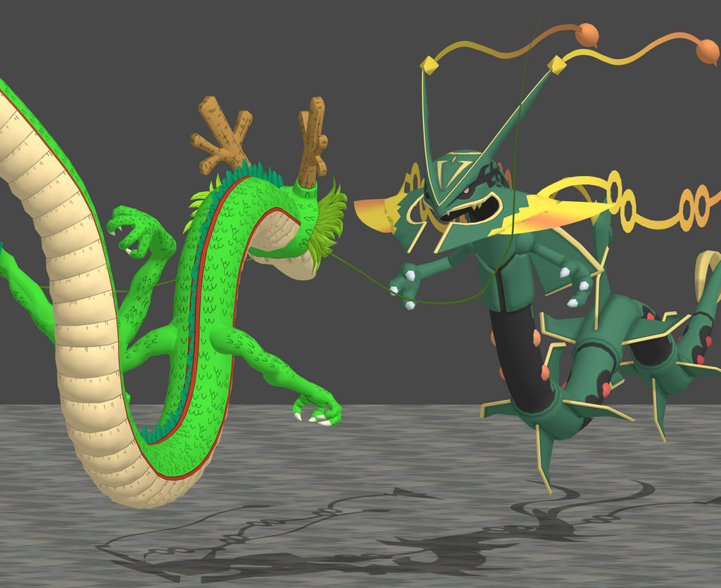 Mega Rayquaza vs Shenron View 1 by zoid162010 on DeviantArt