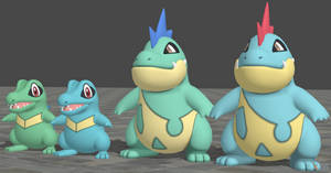 XPS Pokemon X and Y Totodile and Croconaw by zoid162010