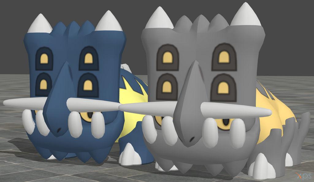 XPS Pokemon X and Y Bastiodon by zoid162010