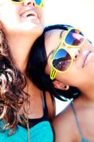 purple skies,yellow sunglasses by twinklepug